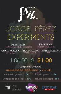 Cartel Jazz Caracol Jorge Pérez