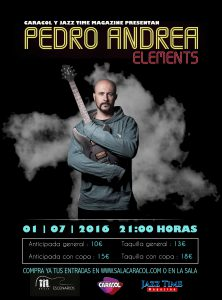 Cartel Pedro Andrea Elements Jazz Time Magazine